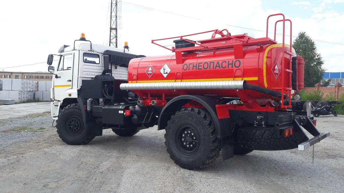 Автотопливозаправщик АТЗ-7 на шасси КАМАЗ 43502